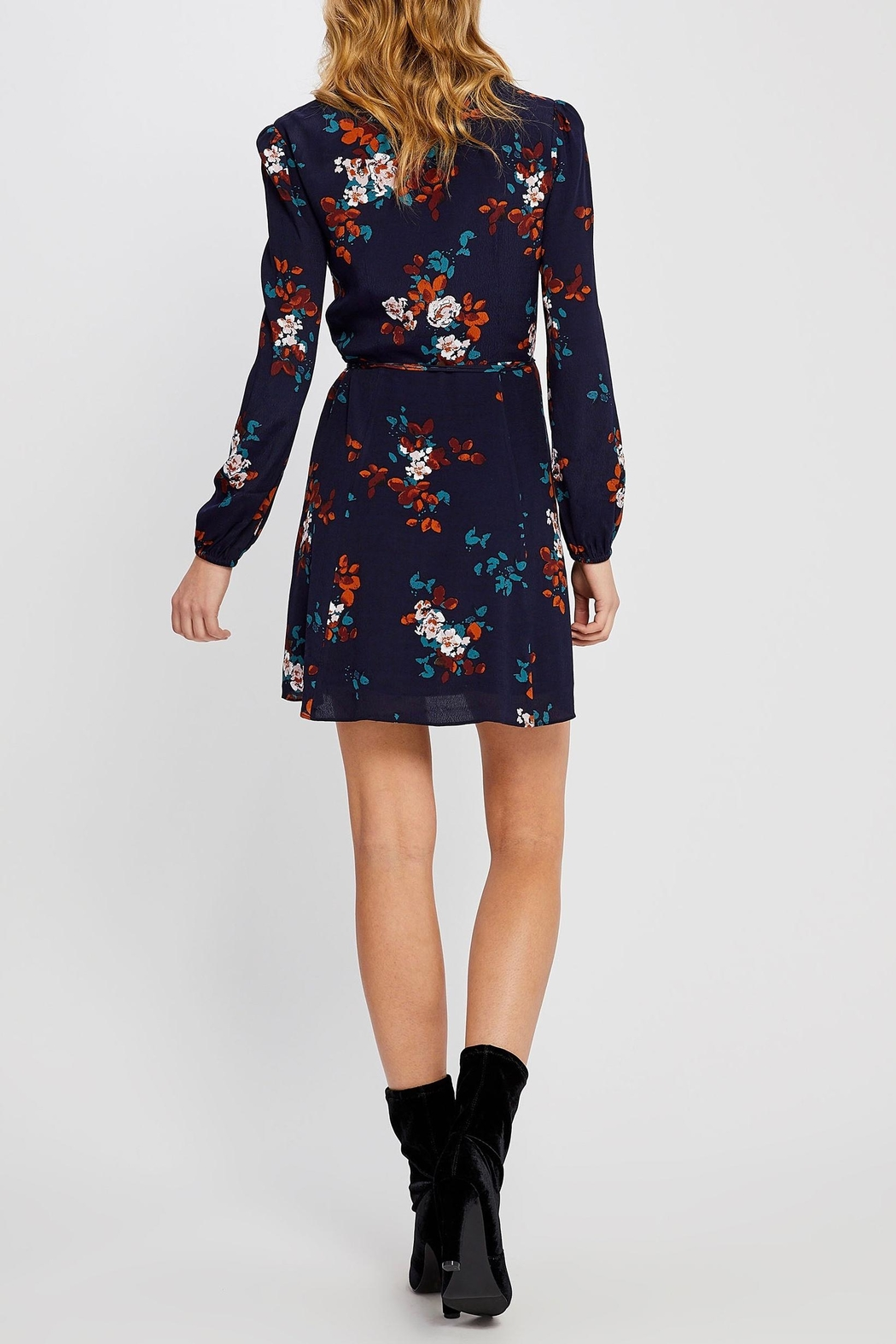 Gentle Fawn Floral Wrap Dress - Side Cropped Image