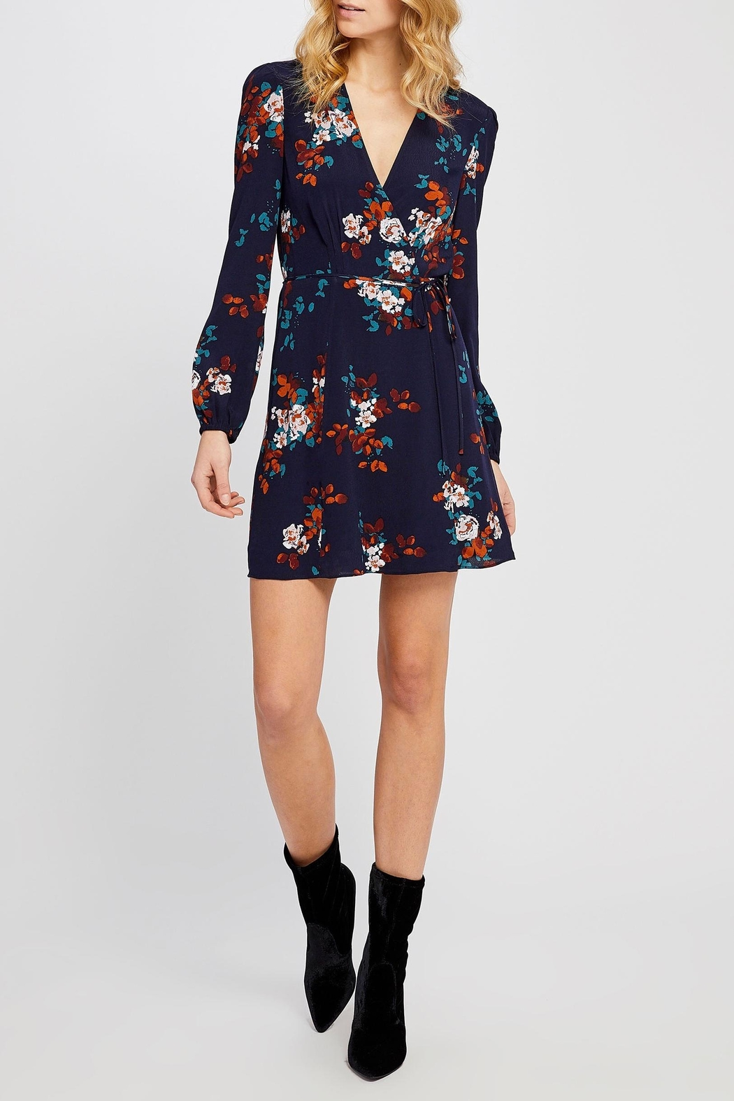 Gentle Fawn Floral Wrap Dress - Main Image