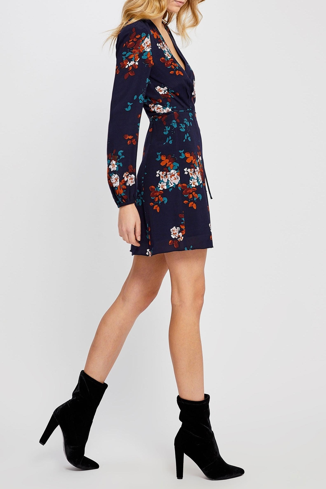 Gentle Fawn Floral Wrap Dress - Front Full Image