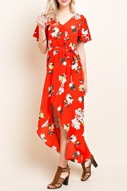 Blushing Heart Floral Wrap Dress - Product Mini Image