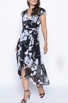 Frank Lyman Floral Wrap Dress - Alternate List Image