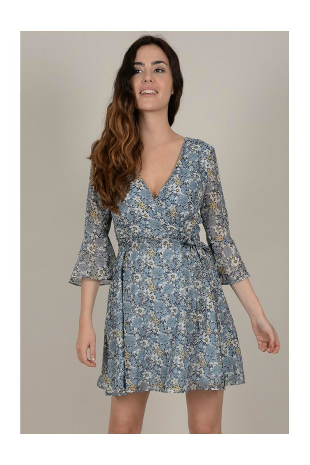Molly Bracken Floral Wrap Dress - Front Full Image