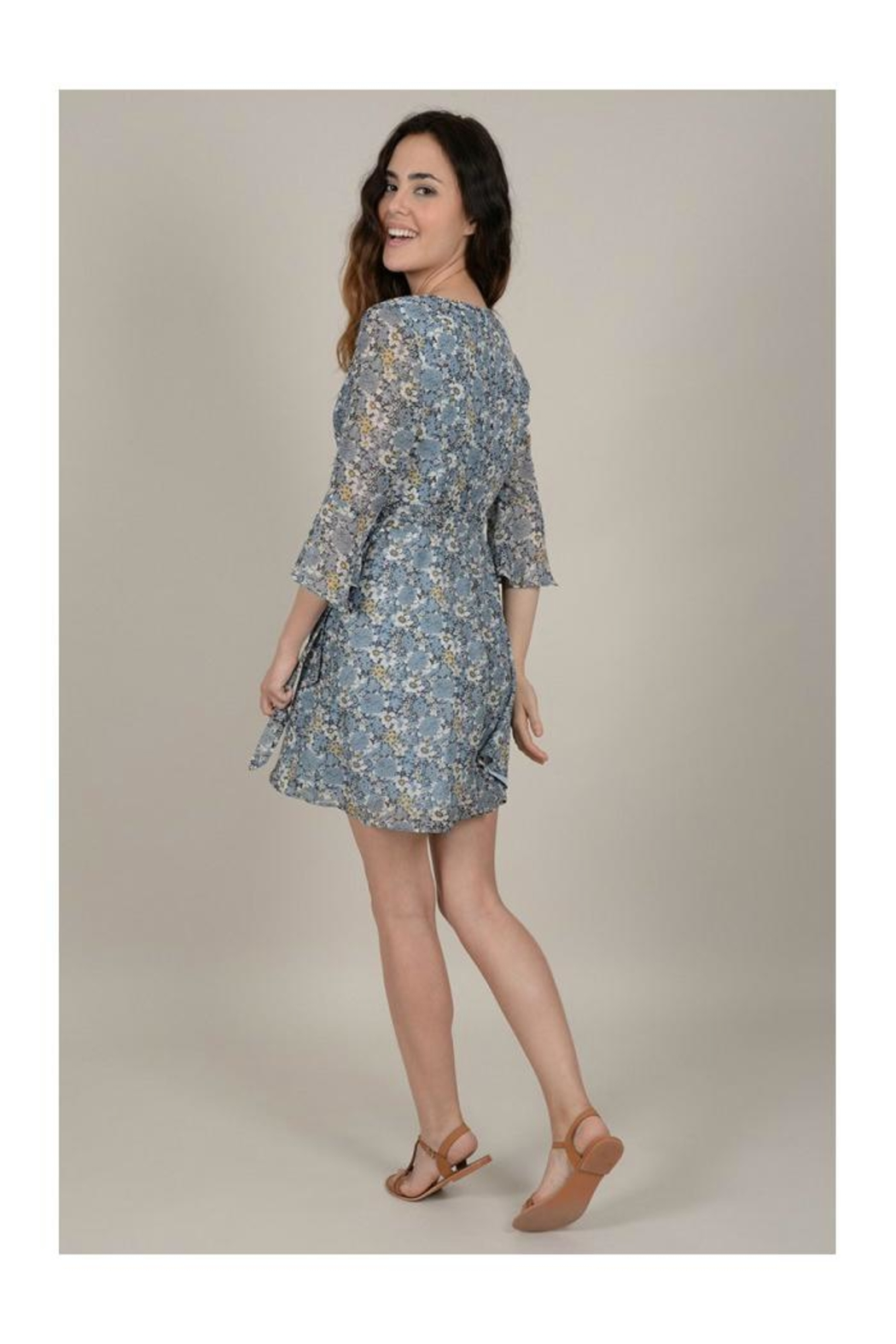 Molly Bracken Floral Wrap Dress - Side Cropped Image