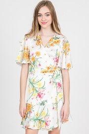 Idem Ditto  Floral Wrap Dress - Product Mini Image