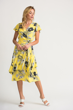 Joseph Ribkoff Floral Wrap Dress - Product List Image