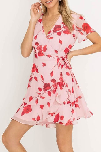Lush Floral Wrap Dress from Montauk by Kailani — Shoptiques