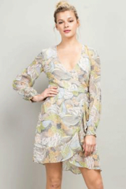 LLove USA Floral Wrap Dress - Product Mini Image