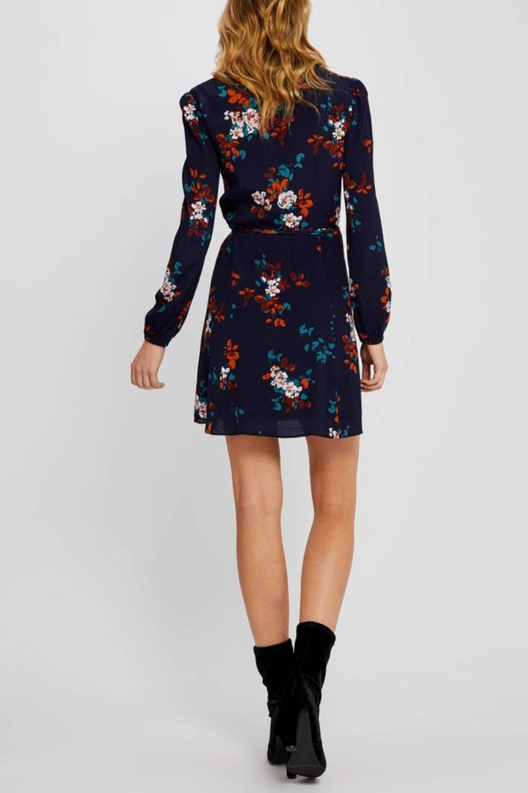 Gentle Fawn Floral Wrap Dress - Back Cropped Image