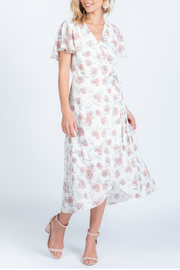 Everly Floral Wrap Dress - Product Mini Image