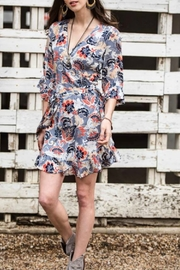 Cousin Earl Floral Wrap Dress with Ruffles - Product Mini Image