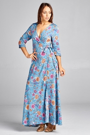 Racine Floral-Wrap Maxi Dress - Front full body