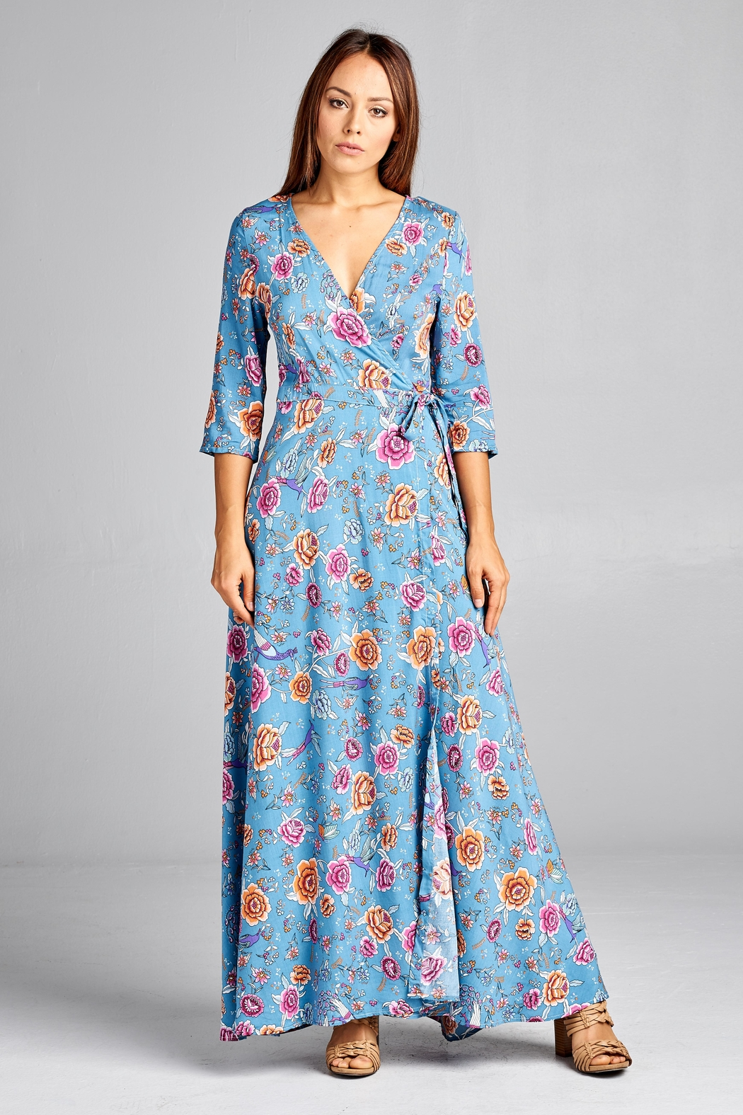 68f29e6344c9 Racine Floral-Wrap Maxi Dress from California by Racine Love ...