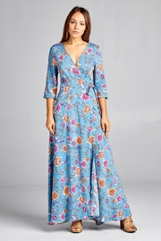 Racine Floral-Wrap Maxi Dress - Product Mini Image