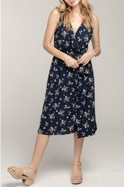 Everly Floral Wrap Midi-Dress - Front cropped