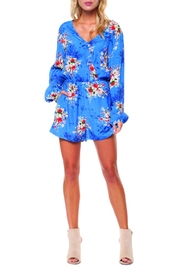 Dex Floral Wrap Romper - Product Mini Image