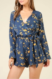 Timing Floral Wrap Romper - Product Mini Image