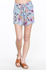 En Creme Floral Wrap Shorts - Product Mini Image