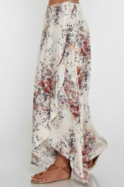 Love Stitch Floral Wrap Skirt - Side cropped