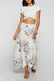 Love Stitch Floral Wrap Skirt - Front cropped