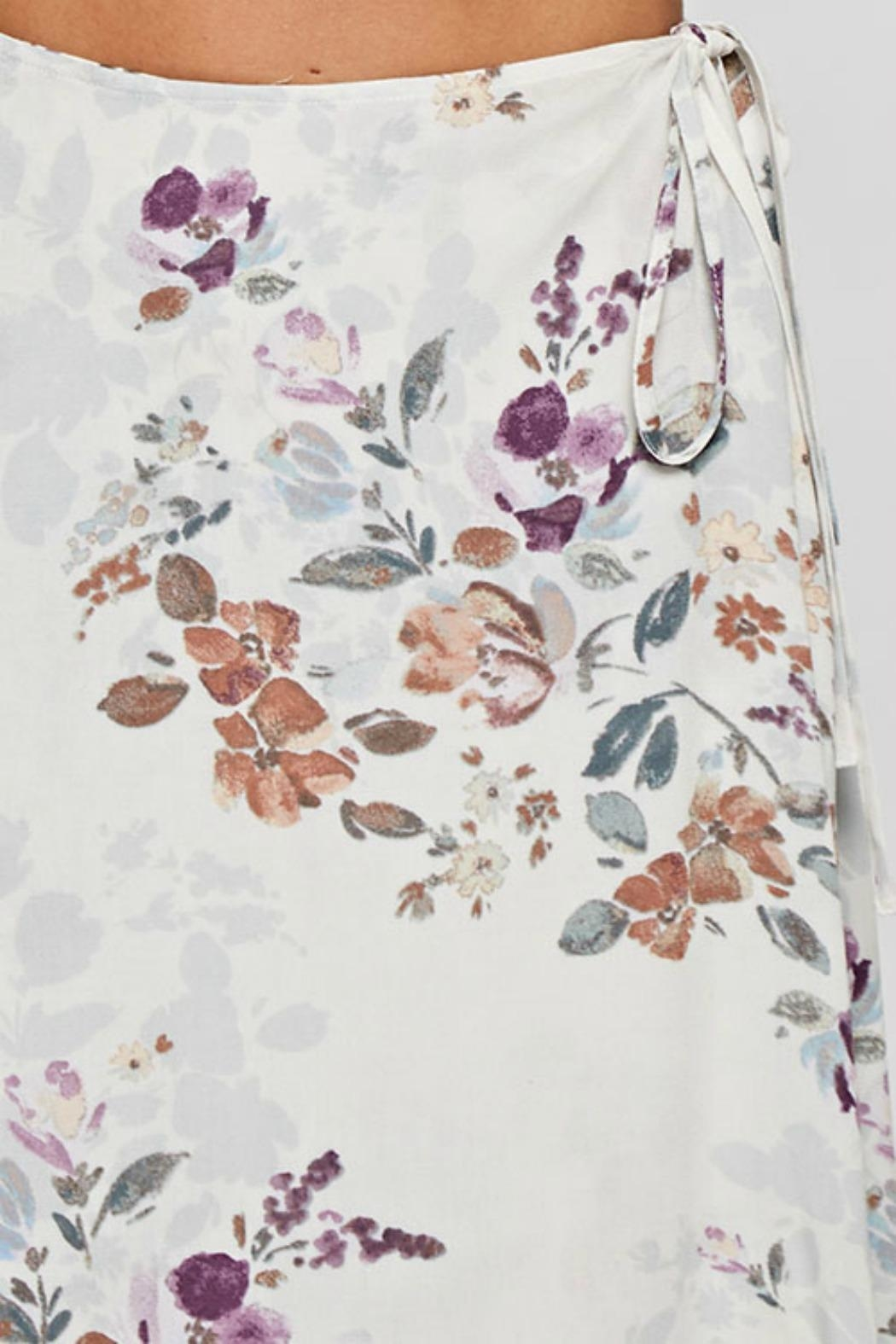 Love Stitch Floral Wrap Skirt - Back Cropped Image