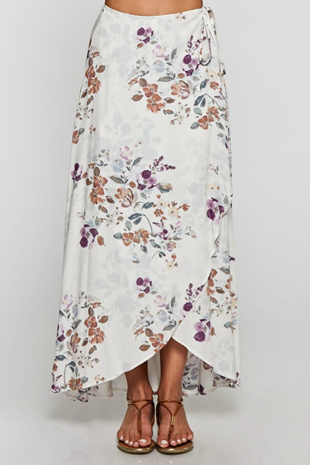 Love Stitch Floral Wrap Skirt - Front Full Image