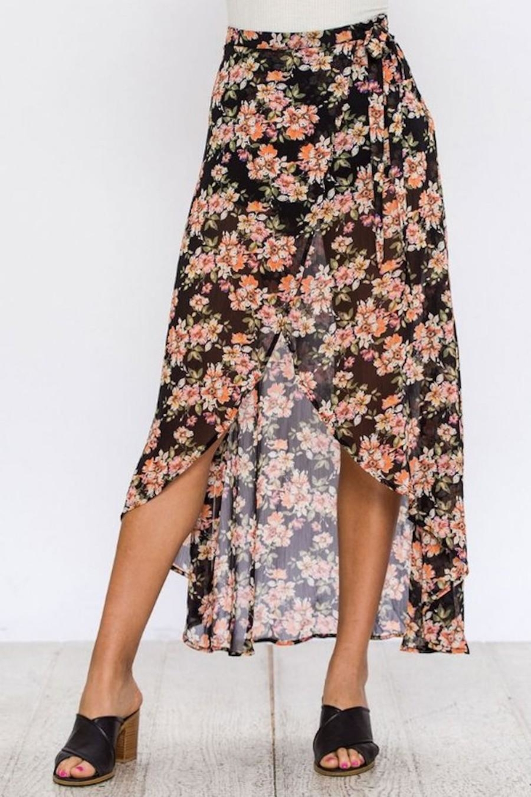 Flying Tomato Floral Wrap Skirt - Main Image