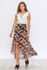 Flying Tomato Floral Wrap Skirt - Back cropped