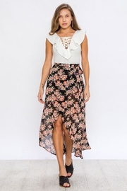 Flying Tomato Floral Wrap Skirt - Side cropped