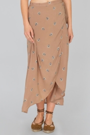 AMUSE SOCIETY Floral Wrap  Skirt - Front cropped