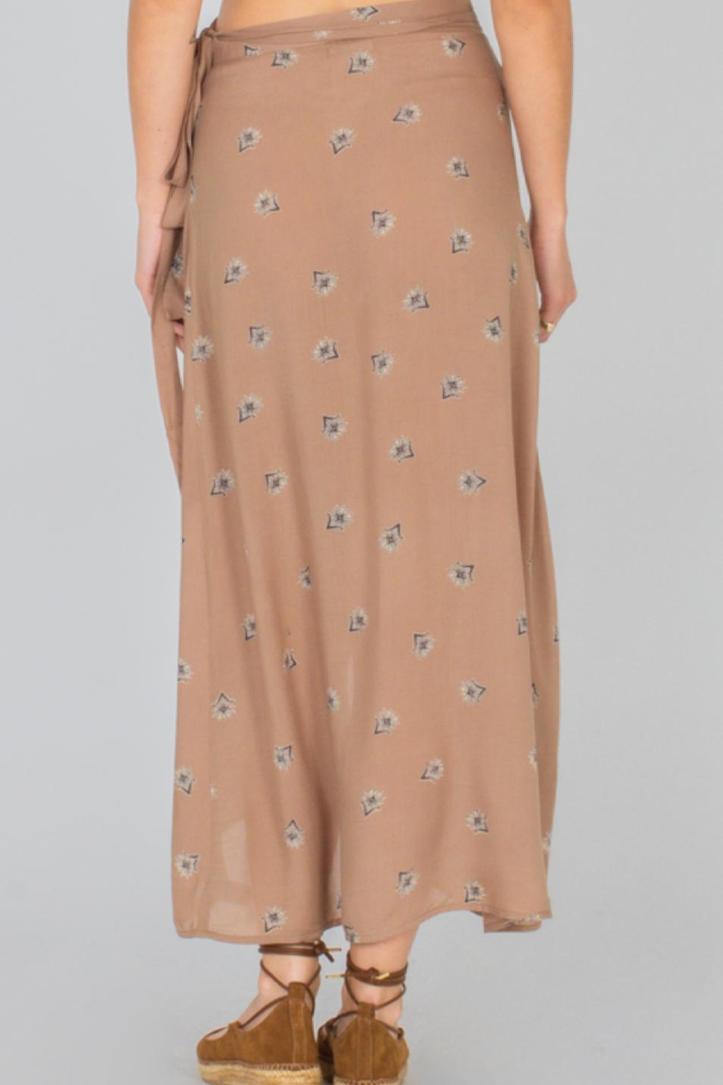 AMUSE SOCIETY Floral Wrap  Skirt - Front Full Image