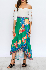 Flying Tomato Floral Wrap Skirt - Product Mini Image