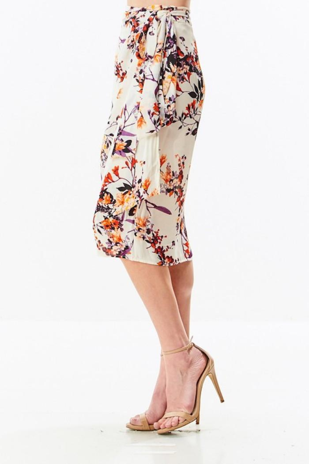 Compendium boutique Floral Wrap Skirt - Side Cropped Image