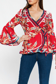 Flying Tomato Floral wrap top - Product Mini Image