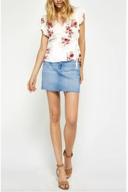 Gentle Fawn Floral Wrap Top - Front cropped