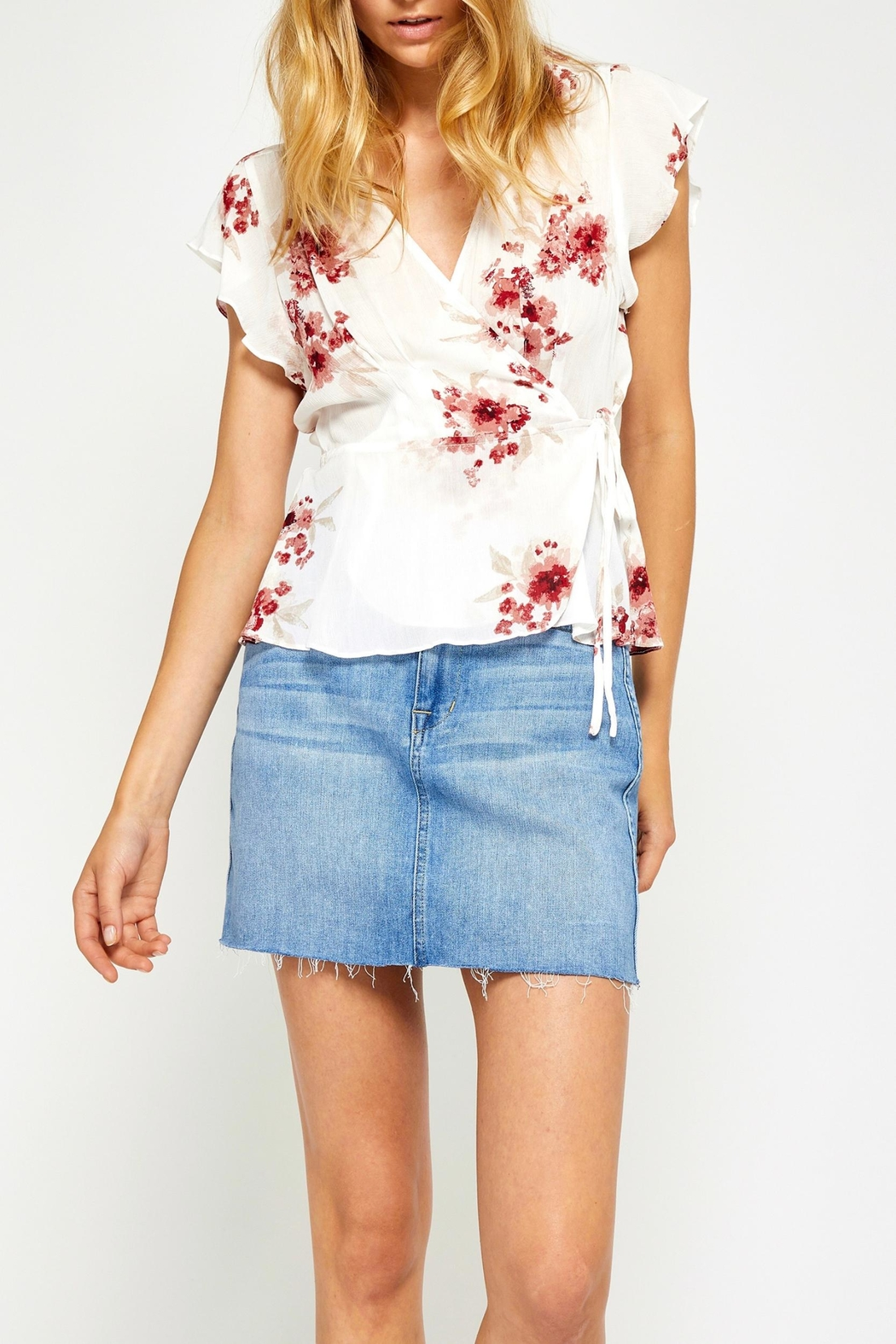 Gentle Fawn Floral Wrap Top - Main Image