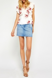Gentle Fawn Floral Wrap Top - Front full body