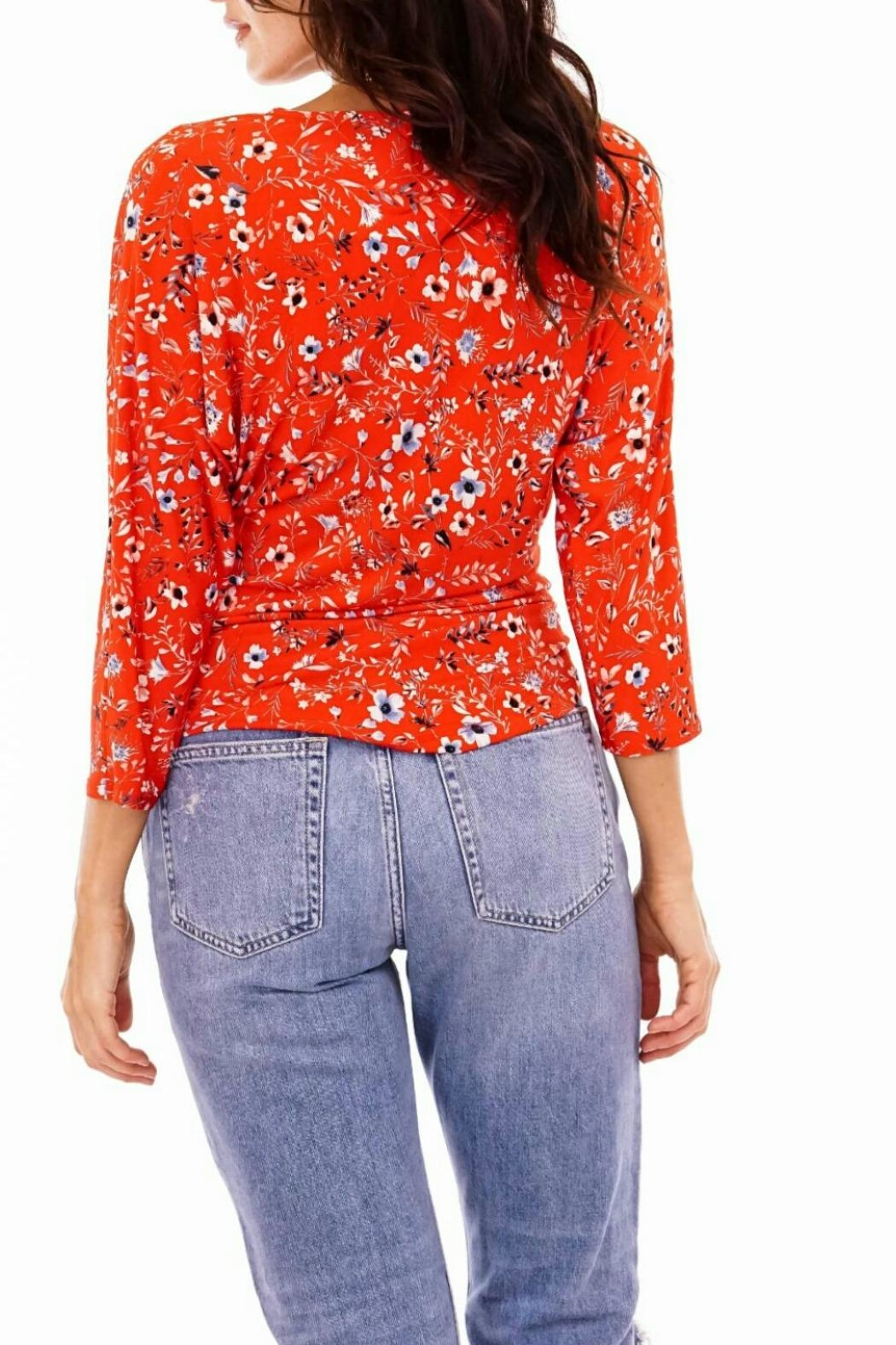Veronica M Floral Wrap Top - Front Full Image