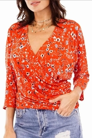 Veronica M Floral Wrap Top - Front cropped