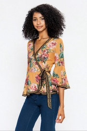 Jealous Tomato Floral Wrap Top - Product Mini Image