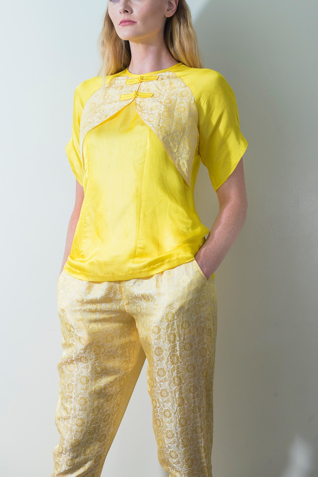 Dawn Sunflower Floral Yellow Blouse - Main Image