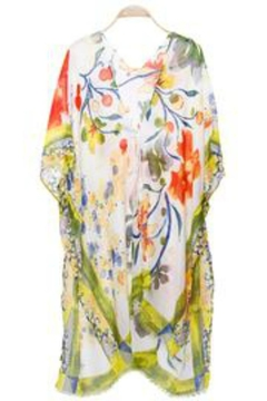 Patricia's Presents Floral Yellowish Kimono - Product List Image