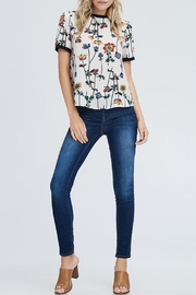 WESTMOON Floral Zip-Back Top - Product Mini Image