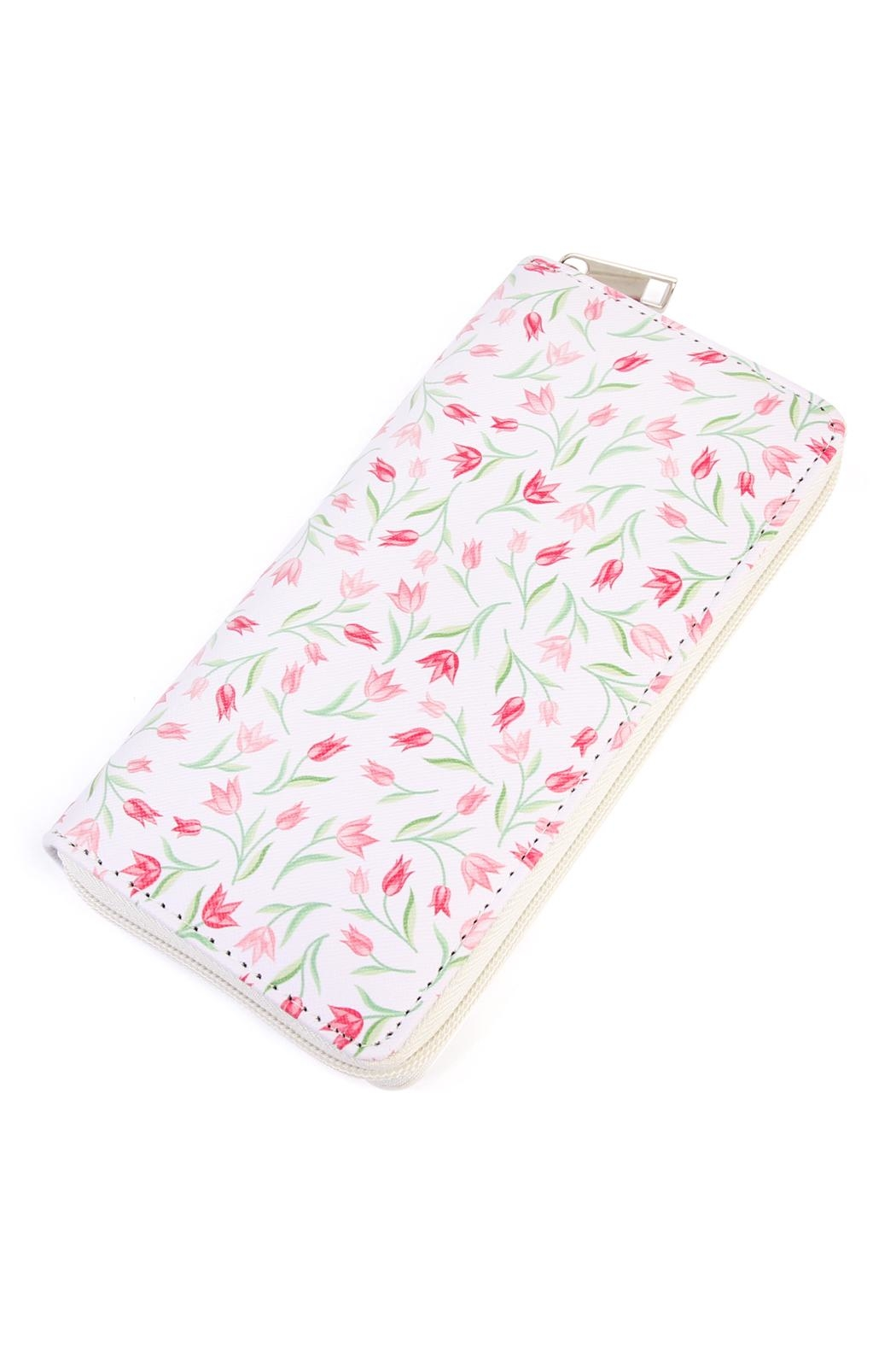 Riah Fashion Floral Zipper Wallet - Main Image