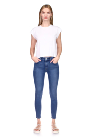 DL1961 Florence Mid Rise Blue Bell - Front cropped
