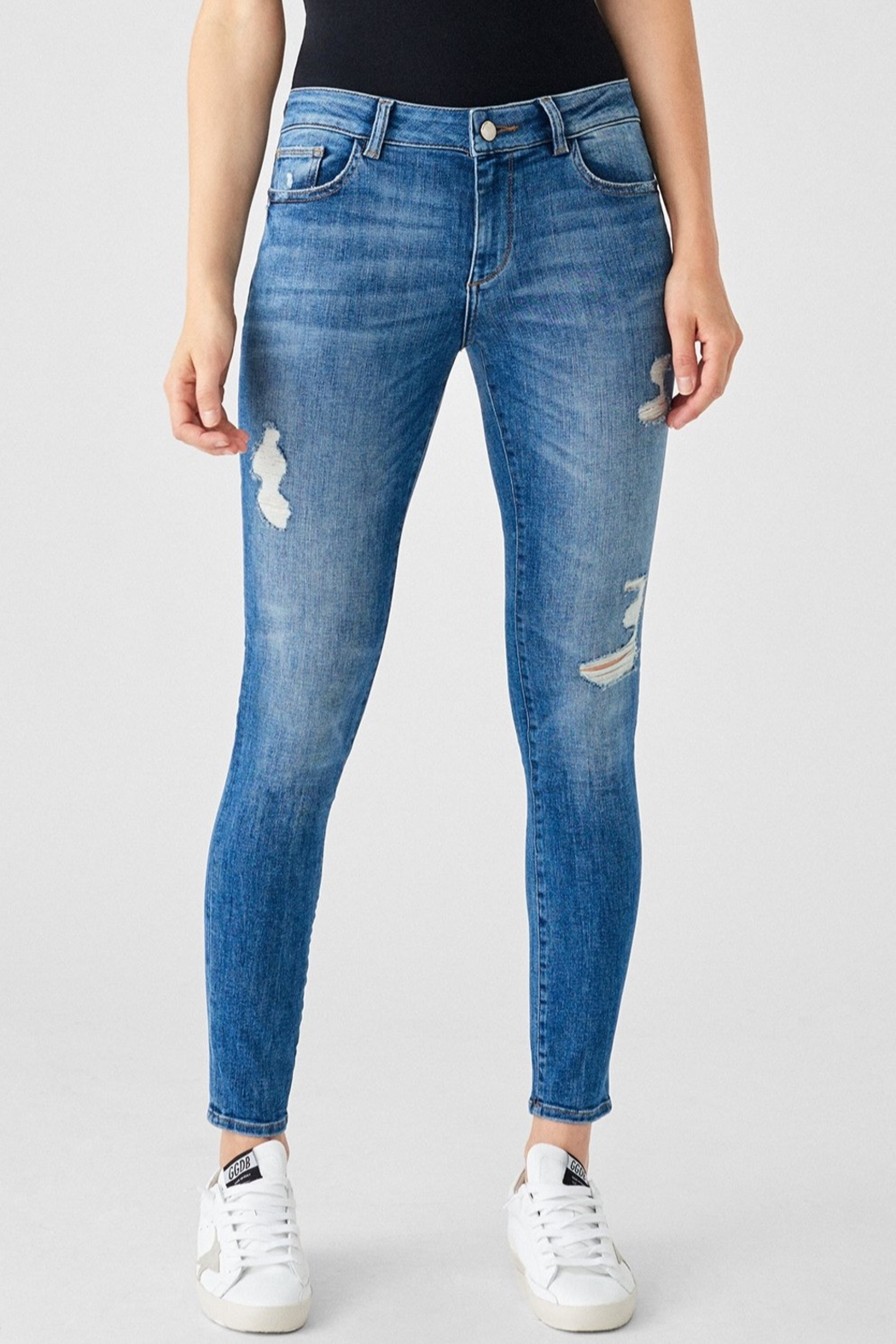 DL1961 Florence Mid Rise Skinny in Full Richland - Side Cropped Image