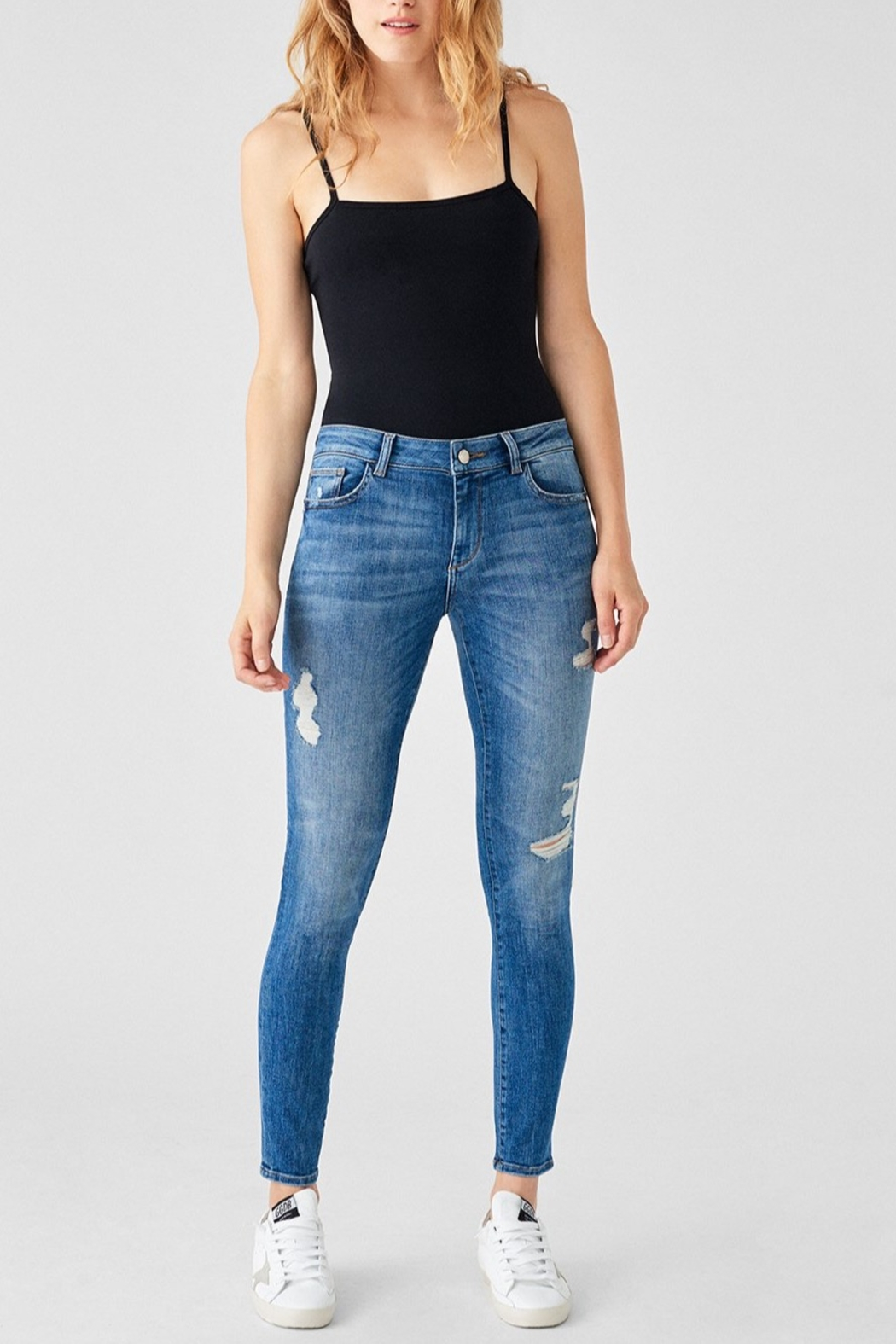 DL1961 Florence Mid Rise Skinny in Full Richland - Main Image