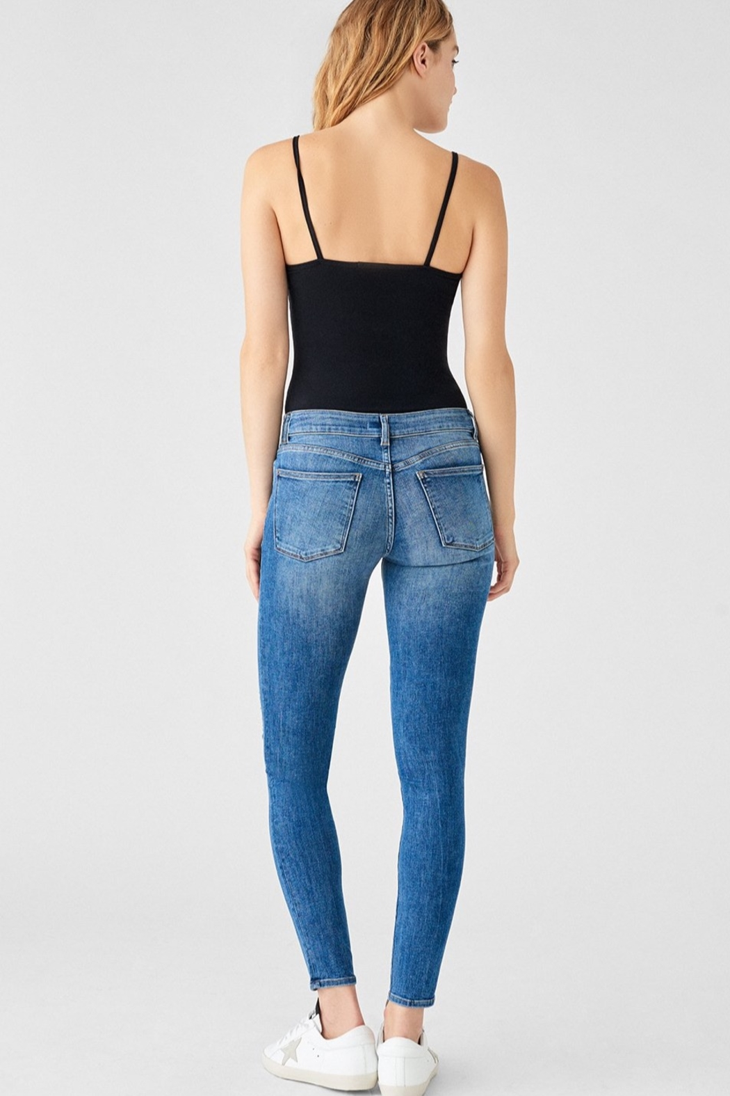 DL1961 Florence Mid Rise Skinny in Full Richland - Front Full Image