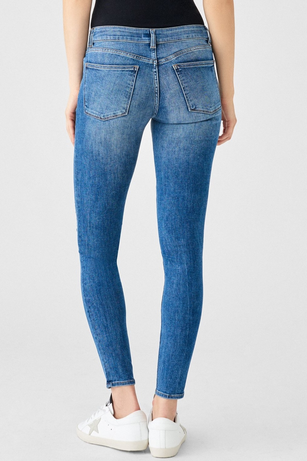 DL1961 Florence Mid Rise Skinny in Full Richland - Back Cropped Image
