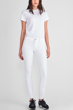 DL1961 Florence Mid Rise Skinny Jean in Porcelain - Product List Image