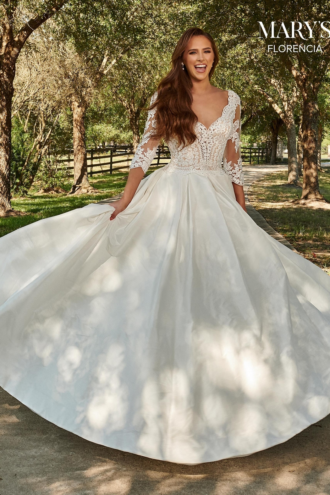 Mary's Bridal Florencia Bridal Gown in Ivory Color - Front Full Image